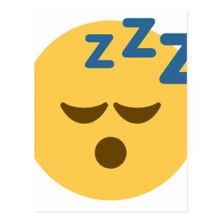 Sleepy Emoji Postcard
