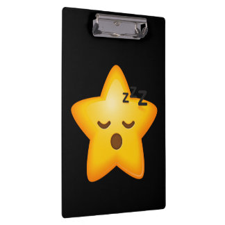 Sleepy Emoji Star Clipboard