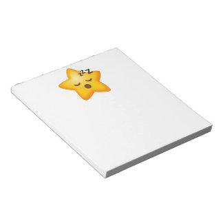 Sleepy Emoji Star Notepad