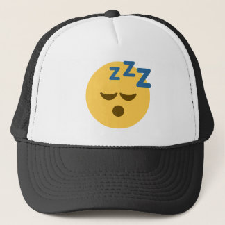 Sleepy Emoji Trucker Hat