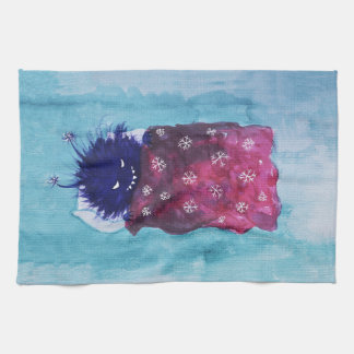 Sleepy Evil Bug Loves To Relax Kitchen Towel