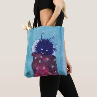 Sleepy Evil Bug Loves To Relax Tote Bag
