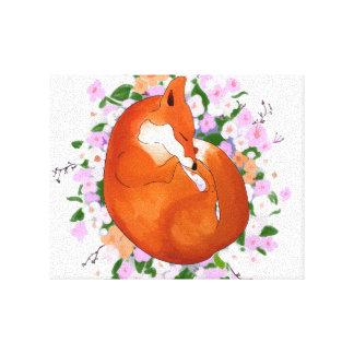 Sleepy Fox Canvas Prints