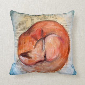 Sleepy Fox Pillow