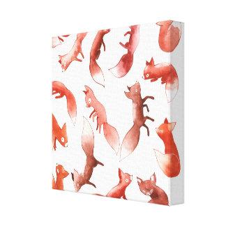 Sleepy Foxes Canvas Print