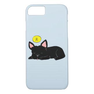 Sleepy French Bulldog(Black) iPhone 8/7 Case