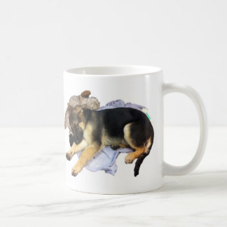 Sleepy German Shepherd Coffe Mug