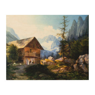 Sleepy German Village Wood Print