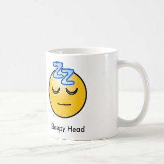 Sleepy Head Emoticon Mug