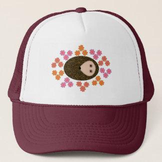 Sleepy Hedgehog and Flowers Hat