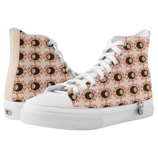 Sleepy Hedgehog and Flowers Shoes