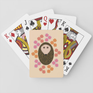 Sleepy Hedgehogs and Flowers Playing cards