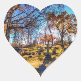 Sleepy Hollow Cemetery New York Heart Sticker