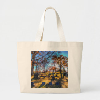 Sleepy Hollow Cemetery New York Large Tote Bag