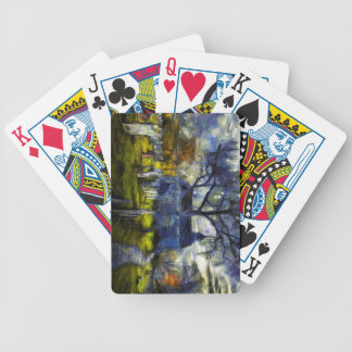 Sleepy Hollow Church Van Gogh Bicycle Playing Cards