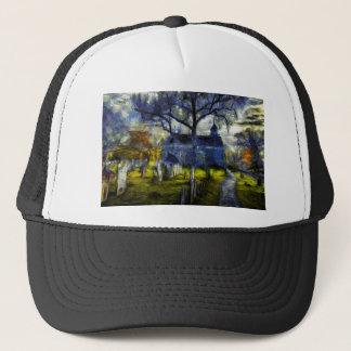 Sleepy Hollow Church Van Gogh Trucker Hat