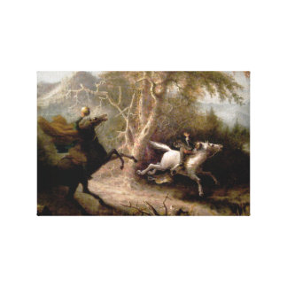 Sleepy Hollow Headless Horseman Framed Stretched Canvas Print