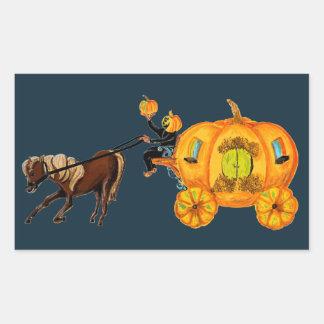 Sleepy Hollow Headless Horseman Pumpkin Carriage Sticker