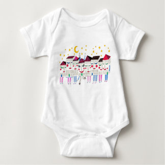 Sleepy Houses Baby Bodysuit