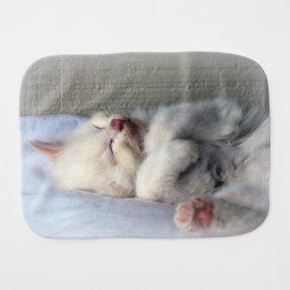 Sleepy Kitten Burp Cloth