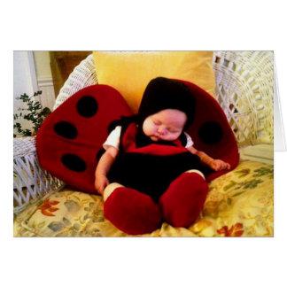 Sleepy ladybug card