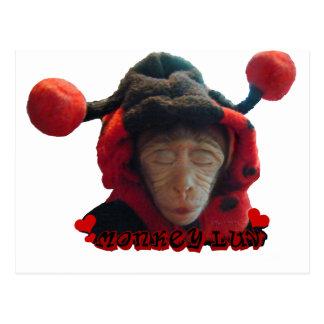 Sleepy Ladybug Monkey Postcard