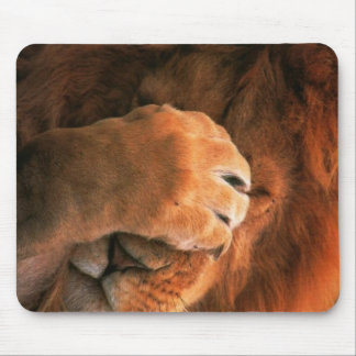 Sleepy Lion Mouse Pad