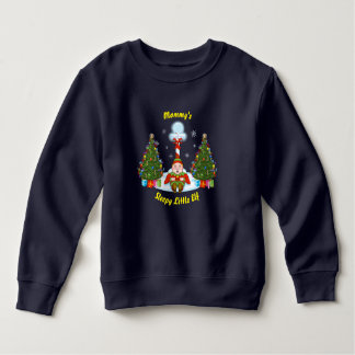 Sleepy Little Elf Toddler Christmas Sweatshirt