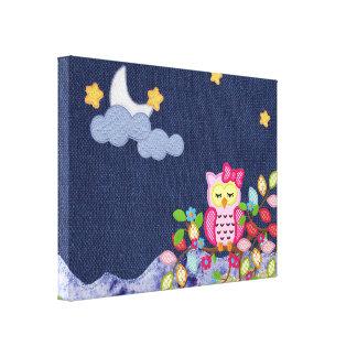 Sleepy Little Owl Gallery Wrap Canvas