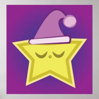 Sleepy Little Star Poster
