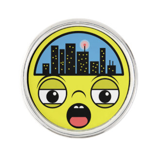 Sleepy Little Town Lapel Pin