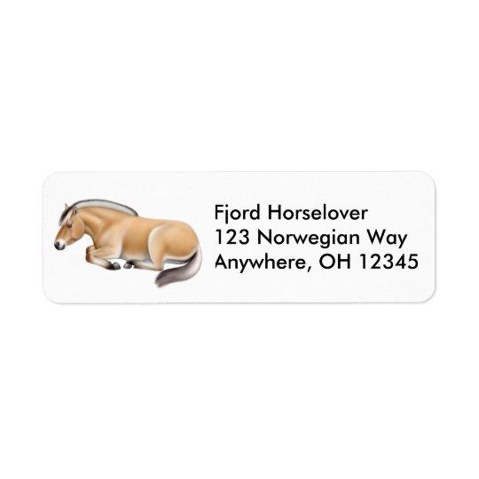 Sleepy Norwegian Fjord Horse Label
