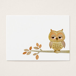 Sleepy Owl in Tree Business Card