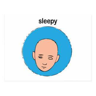 sleepy postcard
