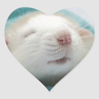 Sleepy Rat Heart Sticker