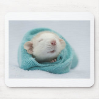 Sleepy Rat Mouse Pad