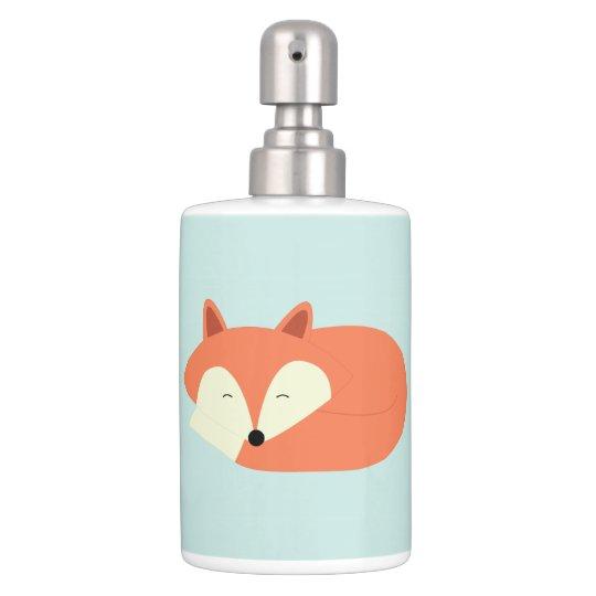 Sleepy Red Fox Bath Set