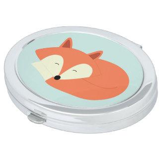 Sleepy Red Fox Makeup Mirrors