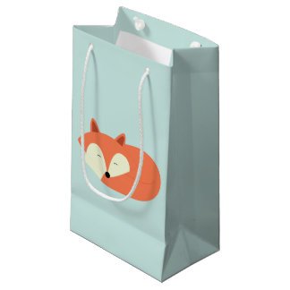 Sleepy Red Fox Small Gift Bag