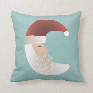 Sleepy Santa Half Moon Christmas Bendel Throw Pillow