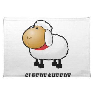 sleepy sheep placemat
