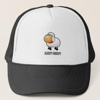 sleepy sheep trucker hat