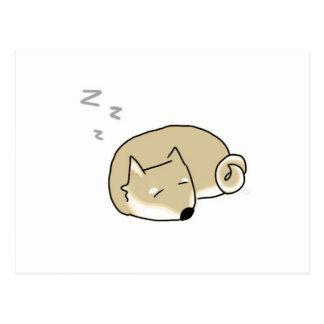 Sleepy Shiba Postcard