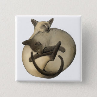 Sleepy Siamese Pin