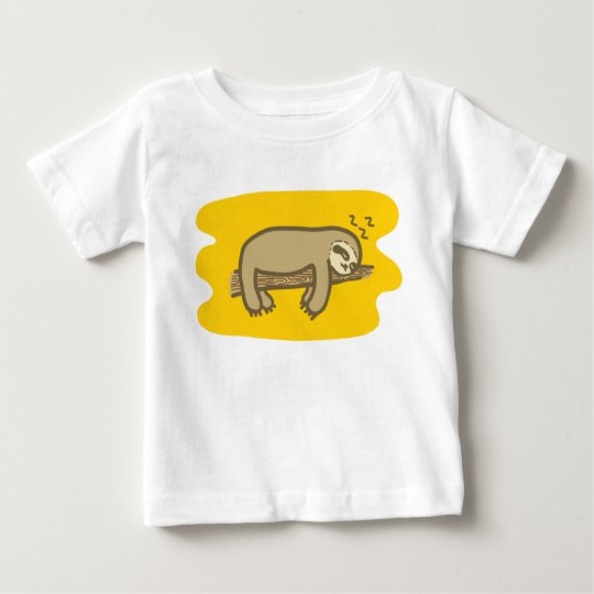 Sleepy sloth on children T-shirt