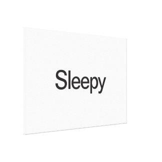 Sleepy Stretched Canvas Print