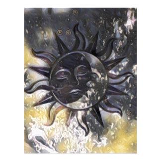 Sleepy Sun Moon Letterhead