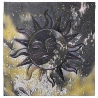 Sleepy Sun Moon Napkin