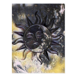 Sleepy Sun Moon Postcard