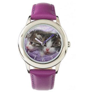 Sleepy sweet kittens wrist watches